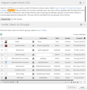 Import Users from CSV using Admin Tools