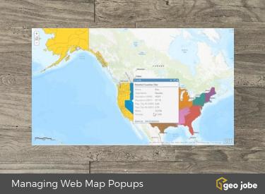 managing webmap popups