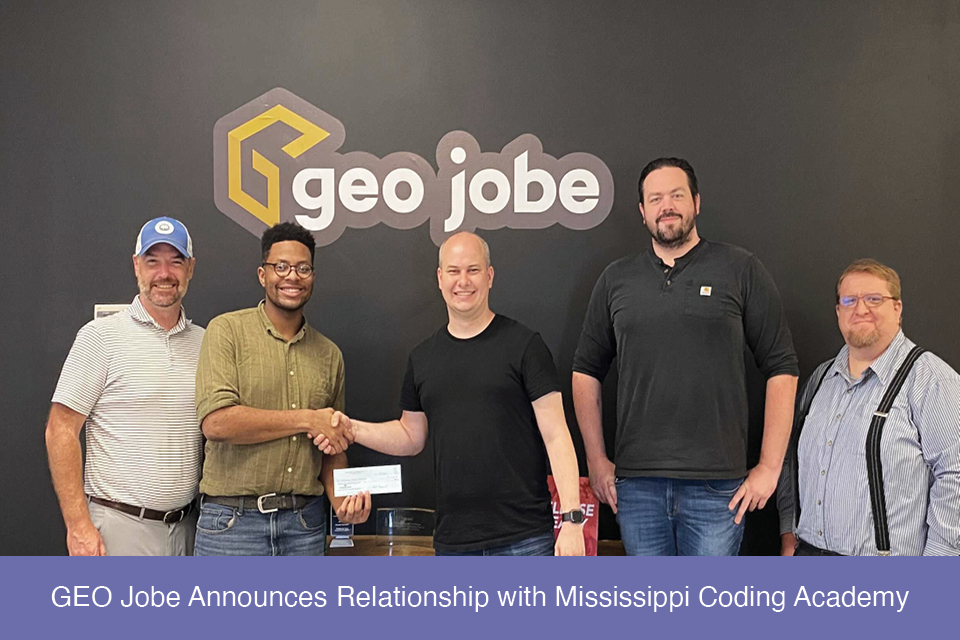 GEO Jobe Announces Relationship with Mississippi Coding Academy