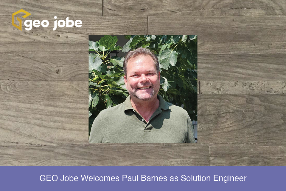 GEO Jobe Welcomes Paul Barnes as Solution Engineer