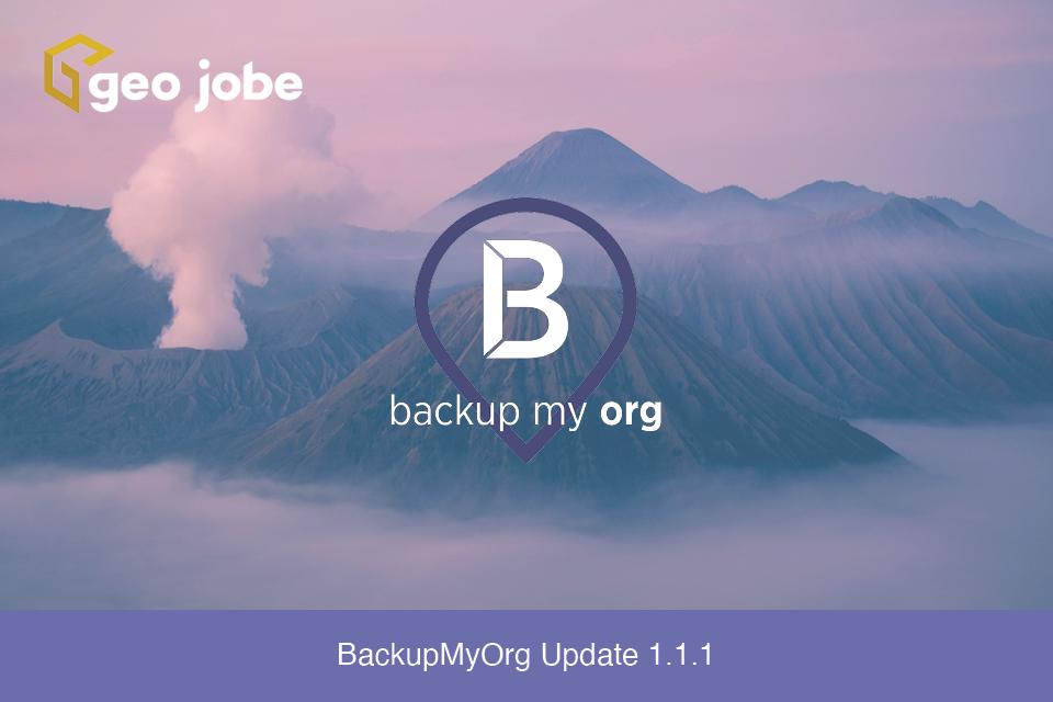 BackupMyOrg Update 1.1.1